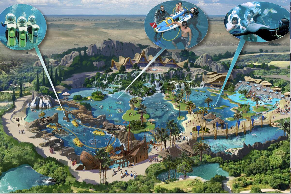Conceptual aerial illustration