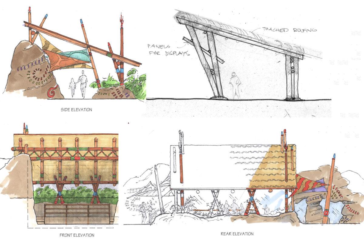 Walkway Pavilion Renderings