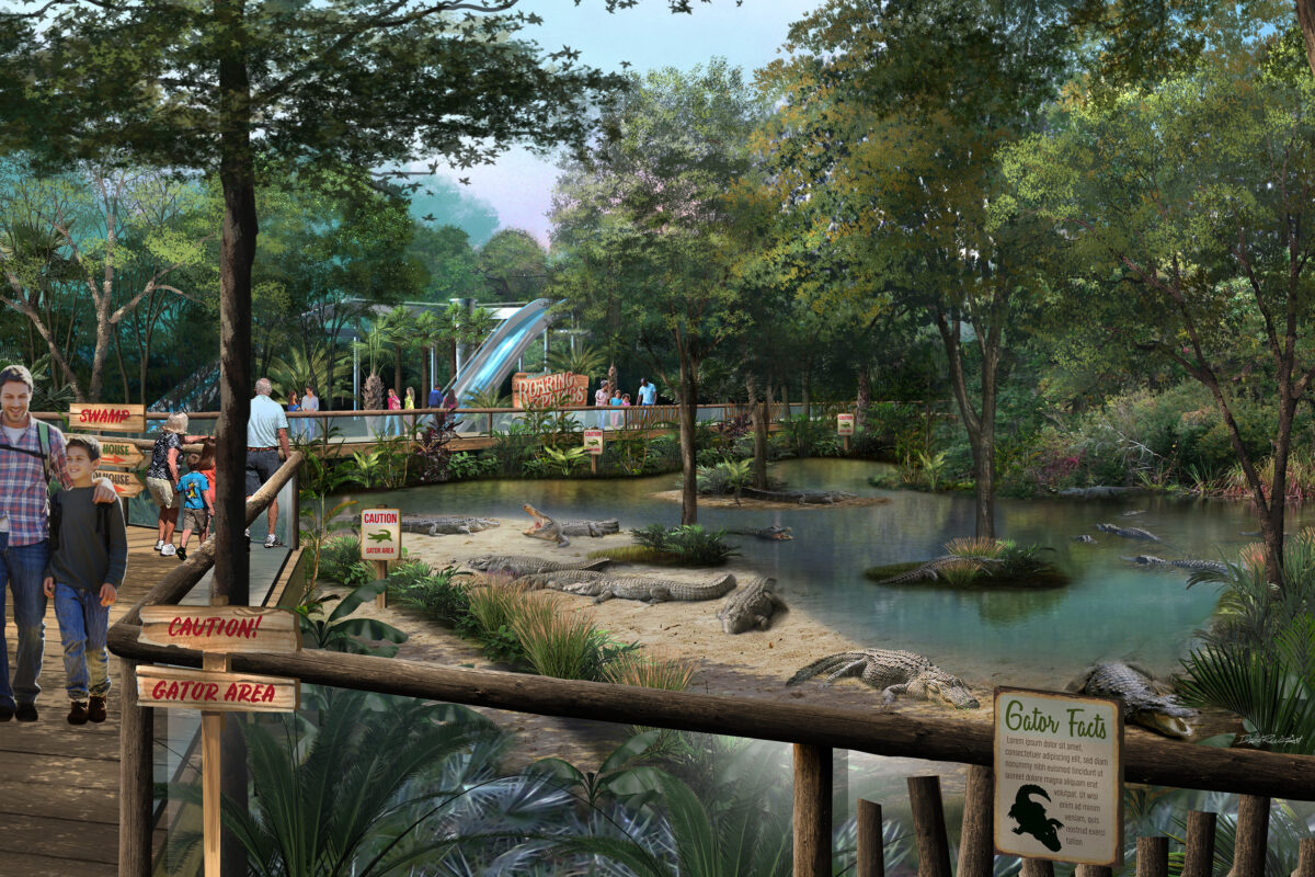 Alligator Exhibit Rendering